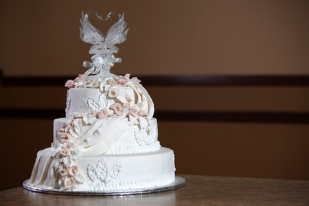 an icing: Wedding Cake - Luxury , Expensive Design Stock Photo
