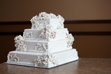 lavish: Wedding Cake - Luxury , Expensive Design Stock Photo