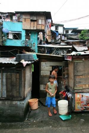 krottenwijk: Krottenwijken in Manilla de hoofdstad van de Filippijnen