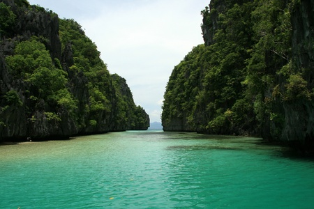 The area of El Nido on Palawan Island in Philippines Stock Photo