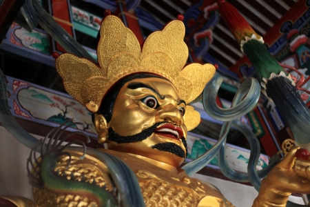 Chinese God - Kek Lok Si Temple in Penang, Malaysia Stock Photo - 14421902