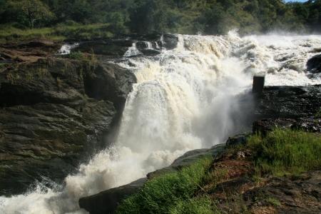 thundering: Murchison Falls National Park Safari Reserve in Uganda - The Pearl of Africa