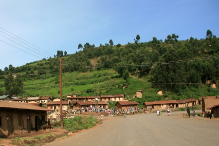 Winding Road Leading Through Kisoro District in Uganda - The Pearl of Africa