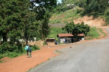 Winding Road Leading Through Kisoro District in Uganda - The Pearl of Africa Stock Photo - 14423365