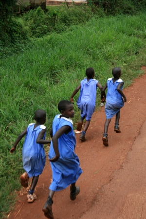 School Children - Local People - Uganda - The Pearl of Africa Editorial