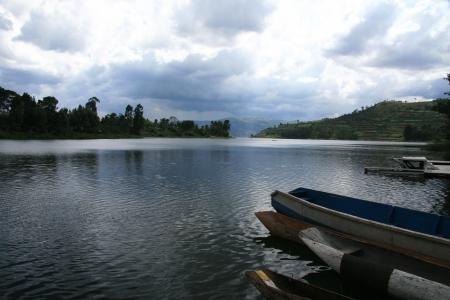kisoro: Lake Bunyoni, Kisori District, Uganda in East Africa Stock Photo