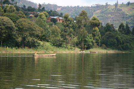 Lake Bunyoni, Kisori District, Uganda in East Africa Stock Photo - 14609840