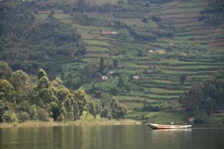 Lake Bunyoni, Kisori District, Uganda in East Africa Stock Photo - 14625005