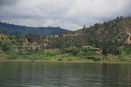 Lake Bunyoni, Kisori District, Uganda in East Africa Stock Photo - 14625128
