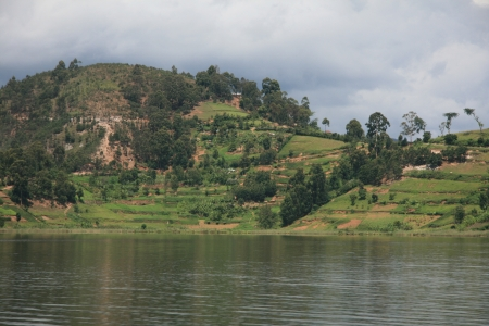 Lake Bunyoni, Kisori District, Uganda in East Africa Stock Photo - 14625034