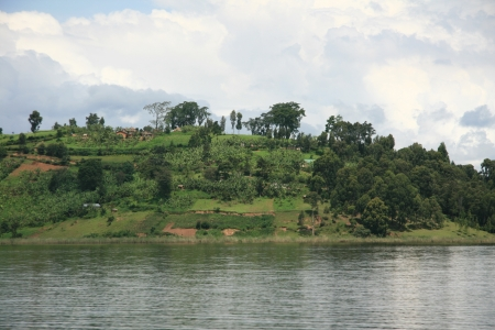 Lake Bunyoni, Kisori District, Uganda in East Africa Stock Photo - 14625093