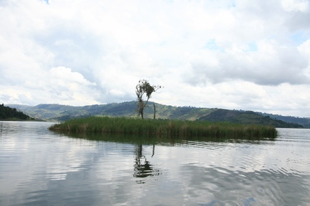 Lake Bunyoni, Kisori District, Uganda in East Africa Stock Photo - 14620527