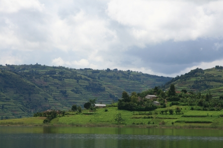 Lake Bunyoni, Kisori District, Uganda in East Africa Stock Photo - 14625171
