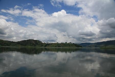 bunyoni: Lake Bunyoni, Kisori District, Uganda in East Africa Stock Photo