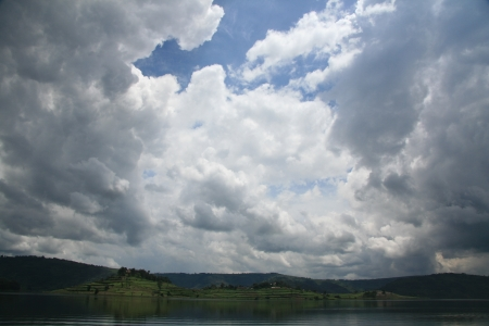 kisoro: Lake Bunyoni, Kisori District, Uganda in East Africa Stock Photo