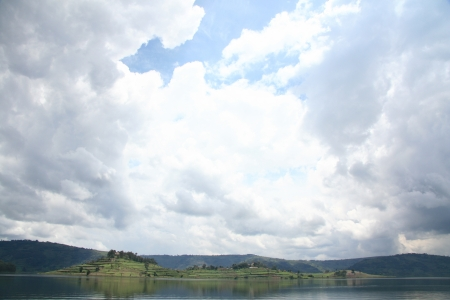 Lake Bunyoni, Kisori District, Uganda in East Africa Stock Photo - 14625359