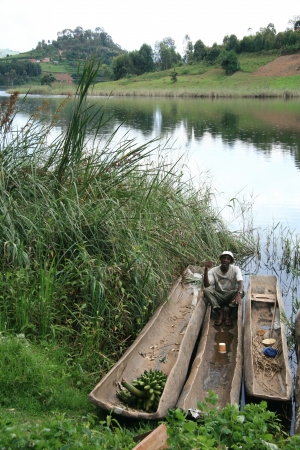 kisoro: Lake Bunyoni, Kisori District, Uganda in East Africa Editorial