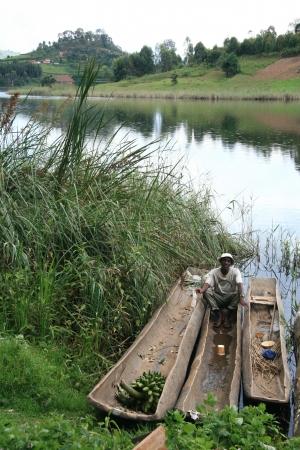 Lake Bunyoni, Kisori District, Uganda in East Africa Editorial