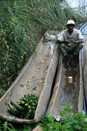 bunyoni: Lake Bunyoni, Kisori District, Uganda in East Africa Editorial