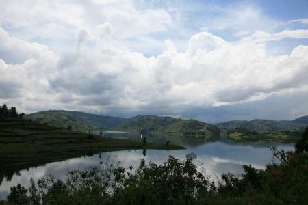 Lake Bunyoni, Kisori District, Uganda in East Africa Stock Photo - 14625241