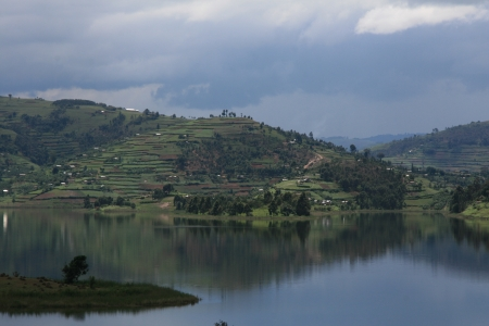 Lake Bunyoni, Kisori District, Uganda in East Africa Stock Photo - 14625243