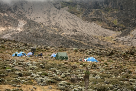 Rugged Landscape at Mt Kilimanjaro in Tanzania, Africa