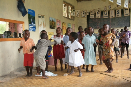 east africa: Local School in Uganda in East Africa Editorial