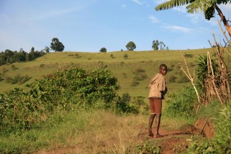 Poor African Boy in Uganda in East Africa