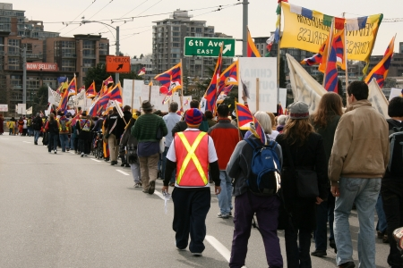 boycott: Tibetan Freedom Protest , Vancouver, Canada (March 22nd 2008) Editorial