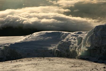 highest: The Snowy Peak of Mt Kilimanjaro in Tanzania, Africa