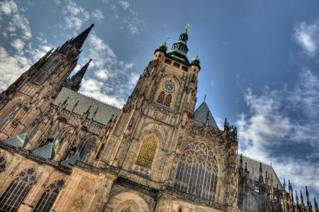 vitus: St Vitus Cathedral at Prague Catsle, Czech Republic