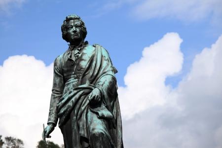 mozart: Mozart Statue - Salzburg City in Austria, Europe