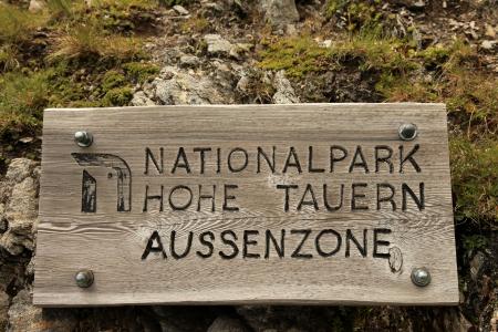 tauern: National Park Sign, Hohe Tauren, Austria