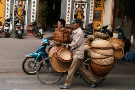 Street Life in Hanoi - the capital city of Vietnam