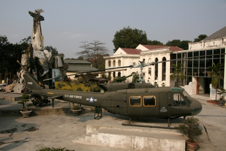 Helicopter in Museum, Hanoi in Northern Vietnam