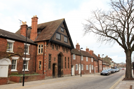 coutryside: Old Houses in Stratford Upon Avon, authentic coutryside town in England