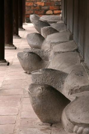 Turtle Grave Stones at Temple of Literature (Quoc Tu Giam) in Hanoi, Vietnam photo