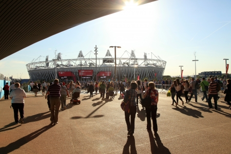 LONDON - SEPT 07: The Olympic Stadium in Olympic Park during the Paralympics on September 07, 2012, in London, England.