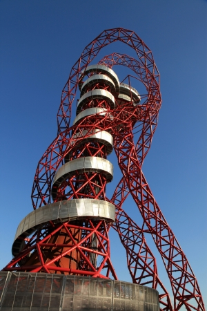 LONDON - SEPT 07: Orbit Tower in Olympic Park during the Paralympics on September 07, 2012, in London, England.