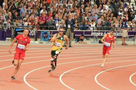 finalistin: LONDON - 7. September: Der Olympic Park w�hrend der Paralympics am 07. September 2012, in London, England.