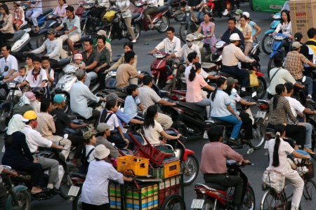 hectic life: The City of Ho Chi Minh in Southern Vietnam