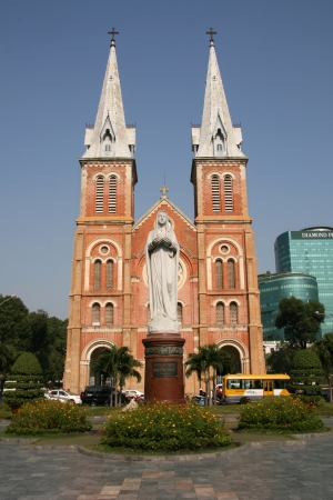 mother mary: Mother Mary at Notre Dame Cathedral in Ho Chi Minh City - Vietnam