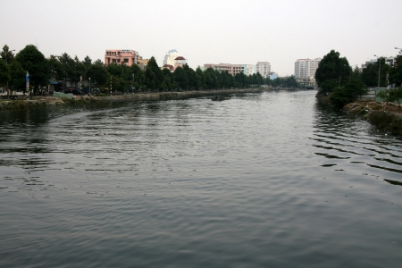 River in The City of Ho Chi Minh in Southern Vietnam photo