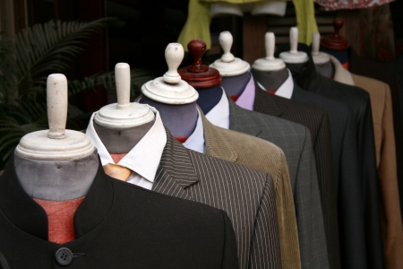 Cloth  Tailor Store in Hoi An City in Central Vietnam Stock Photo