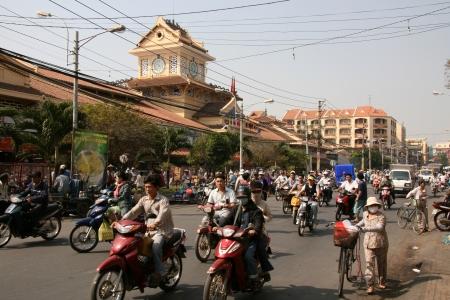 original bike: Cholon (Chinatown) in Ho Chi Minh, Vietnam Editorial