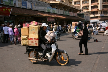 Cholon (Chinatown) in Ho Chi Minh, Vietnam Editorial