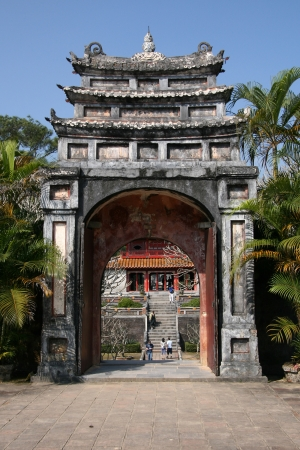 buddhist structures: Minh Mang in Hue, Vietnam