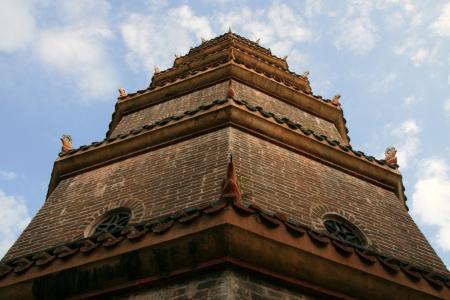 hue: Pagoda in Hue, Vietnam