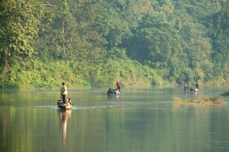 ecotourism: River Running Through Royal Chitwan National Park in Nepal Editorial