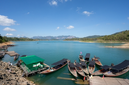 Chiao Lan Lake at Khao Sok National Park, Thailand Stock Photo - 18644158